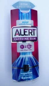 packaging for caffeine gum