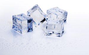 ice cube to suck on