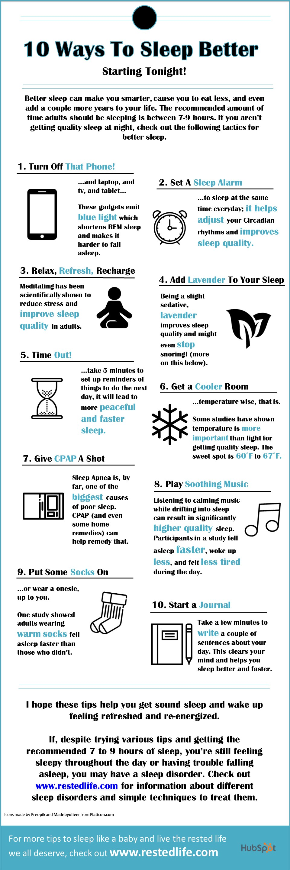 10 Ways To Sleep Better And Faster Starting Today Infographic