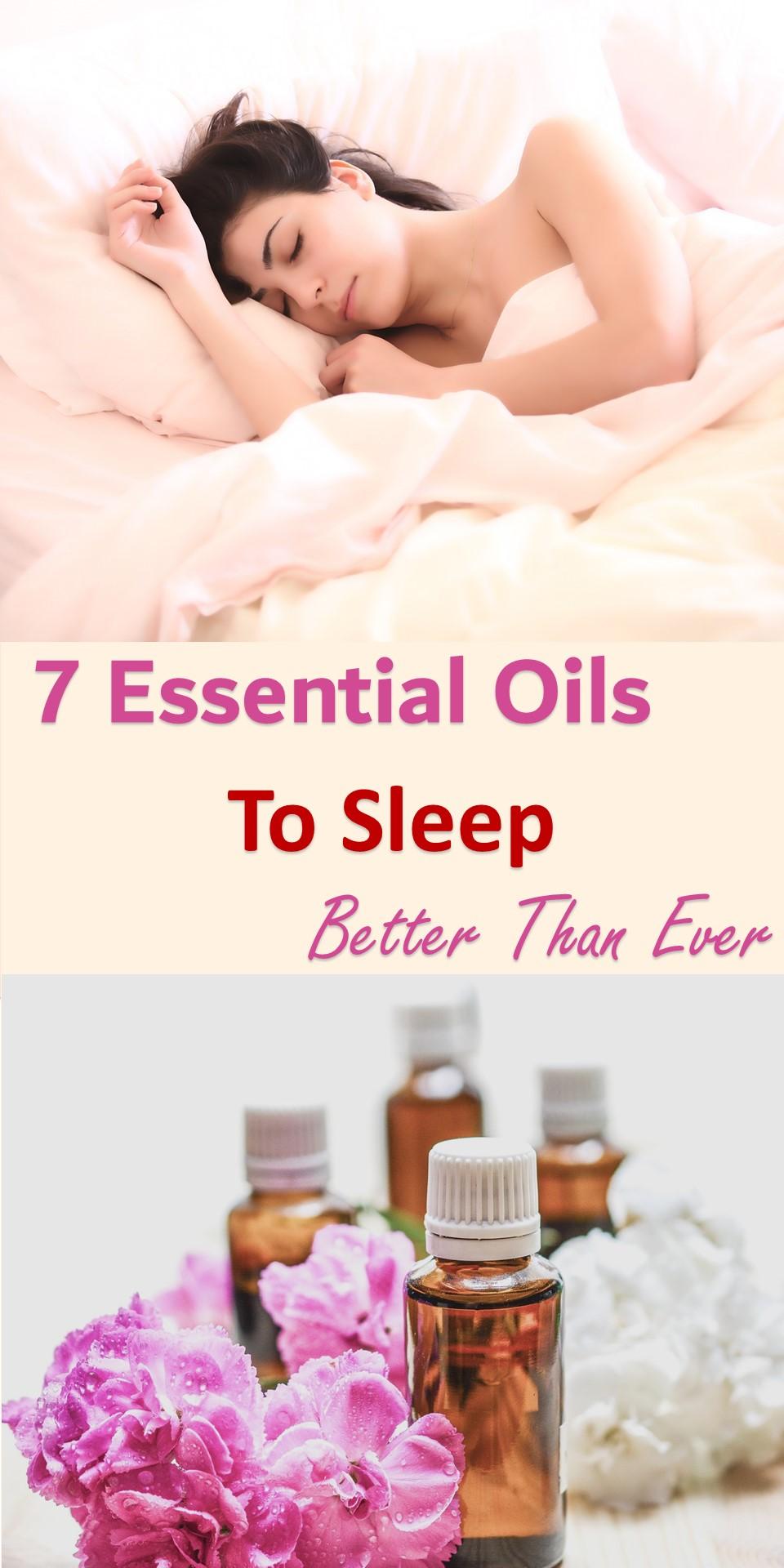 7 essential oils to sleep better