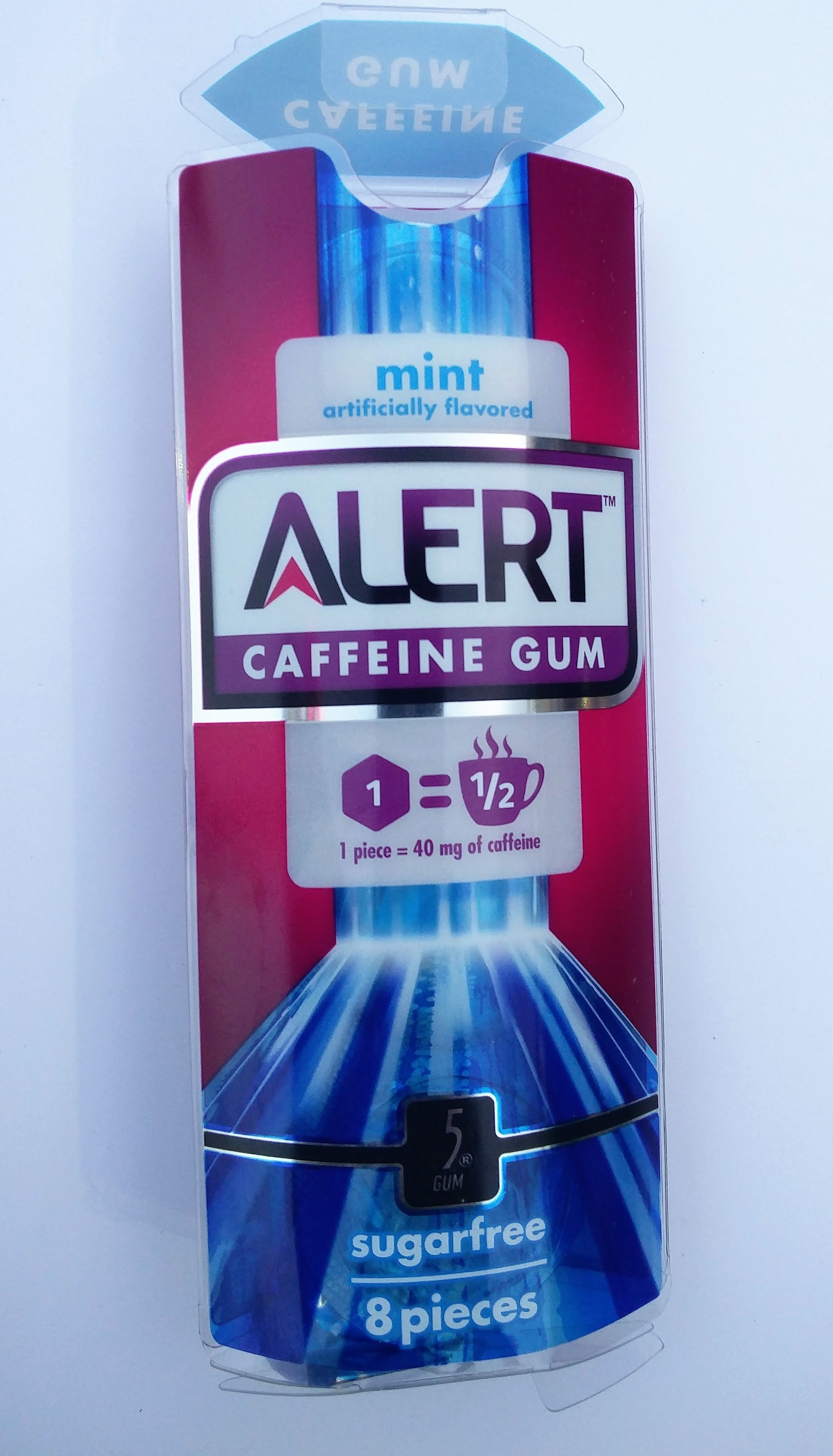 packaging for caffeine gum