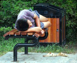 sleeping in public siesta